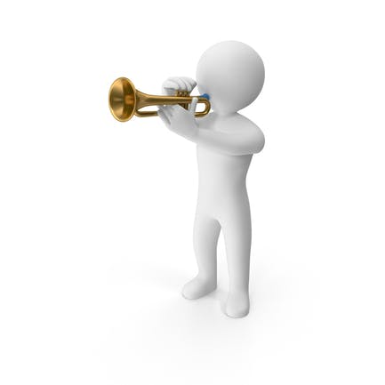 Stickman Playing Trumpet