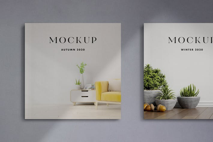Thumbnail for Square Cover Magazines Mockup
