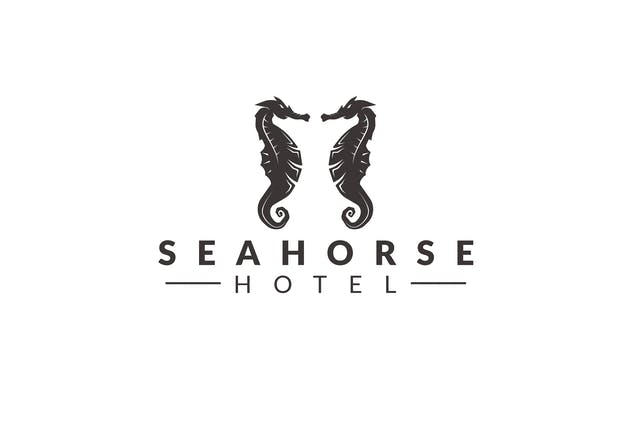 Sea Horse Logo Template