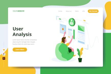 Analyse utilisateur - Page de destination