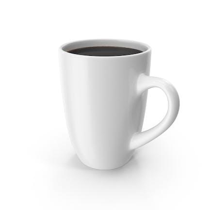 Große weiße Kaffeetasse