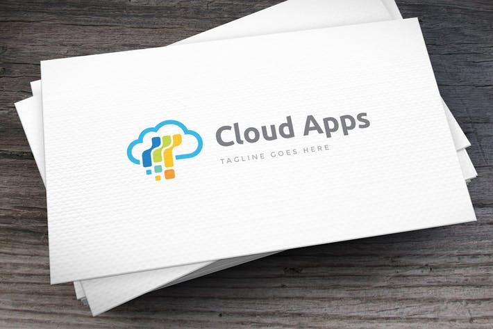 Cloud Apps Logo Template