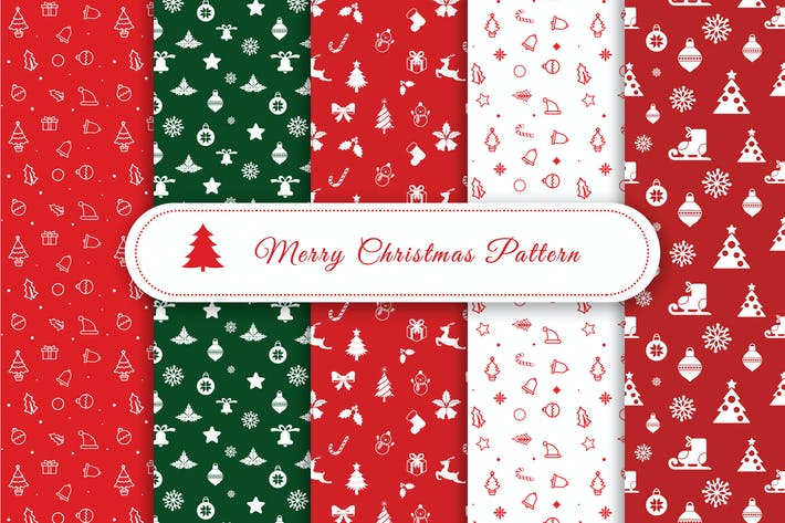 Thumbnail for Merry Christmas Pattern & Digital Paper Pack