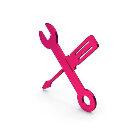 Symbol Screwdriver And Wrench Metallic