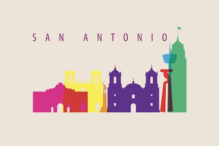 Thumbnail for San Antonio, TX, Skyline, USA