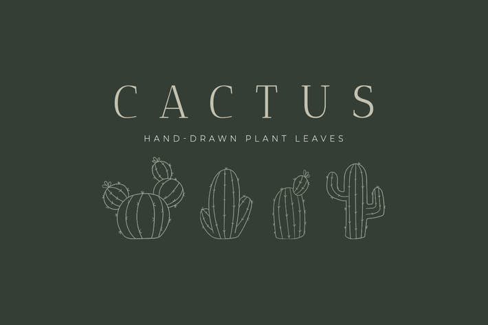 Thumbnail for Kaktus handgezeichnete Pflanze