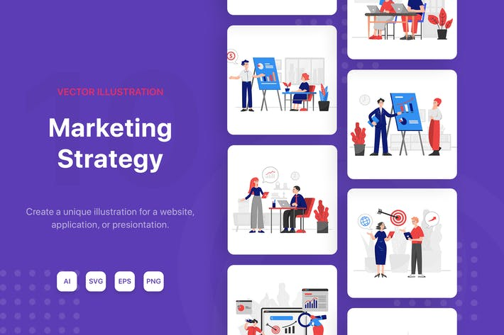 Thumbnail for Marketing Strategy Illustrations