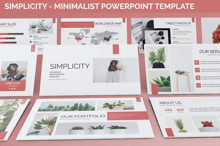 Thumbnail for Simplycity - Minimalist Powerpoint Template