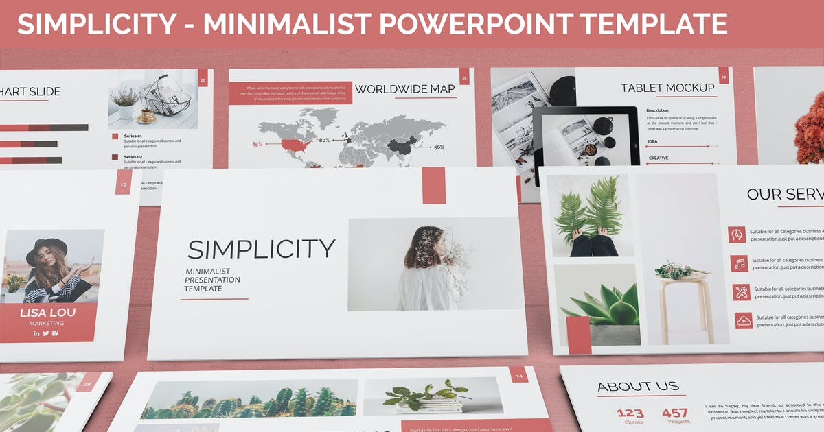 Download Simplycity - Minimalist Powerpoint Template by SlideFactory