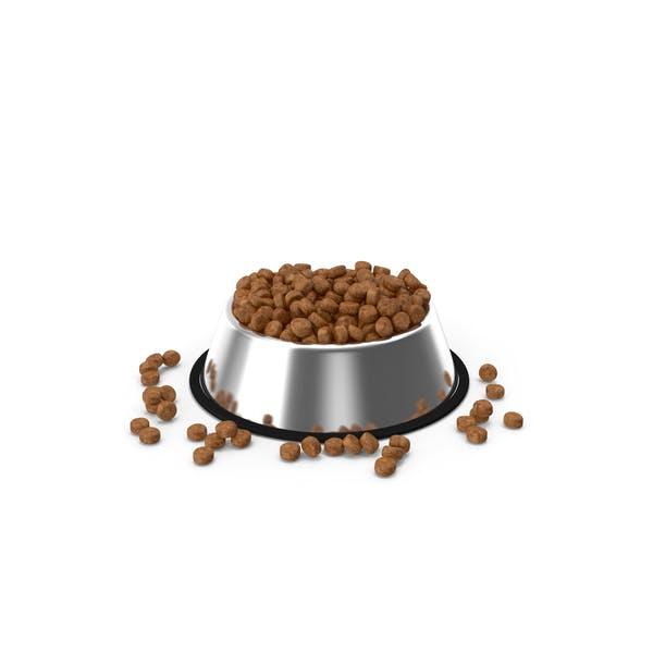 Trockene Hundefutter Edelstahlschale