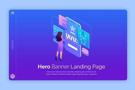 Verko - Hero Banner Template