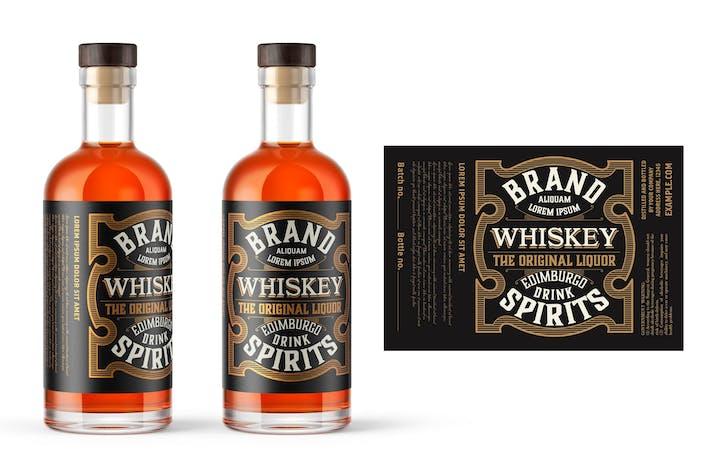 Vintage Whisky-Etikettenlayout