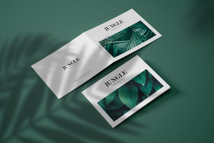 Cover Image For Horizontal Bifold Brochure Mockup