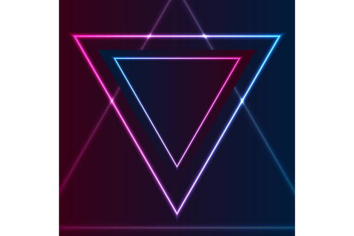 Thumbnail for Blue purple retro neon laser triangle
