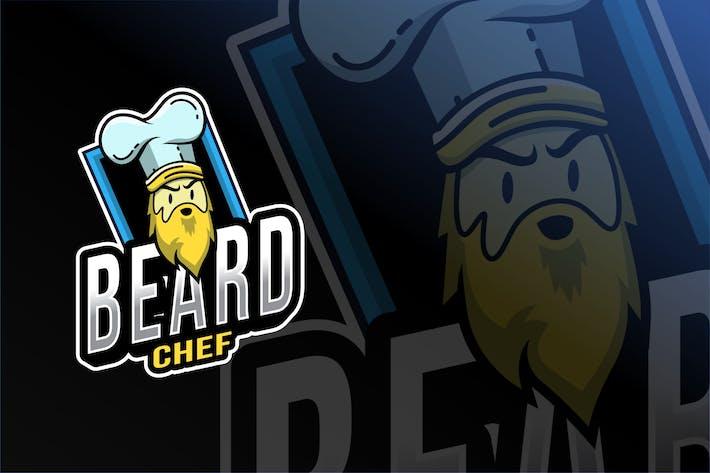 Thumbnail for Beard Chef Esport Logo Template