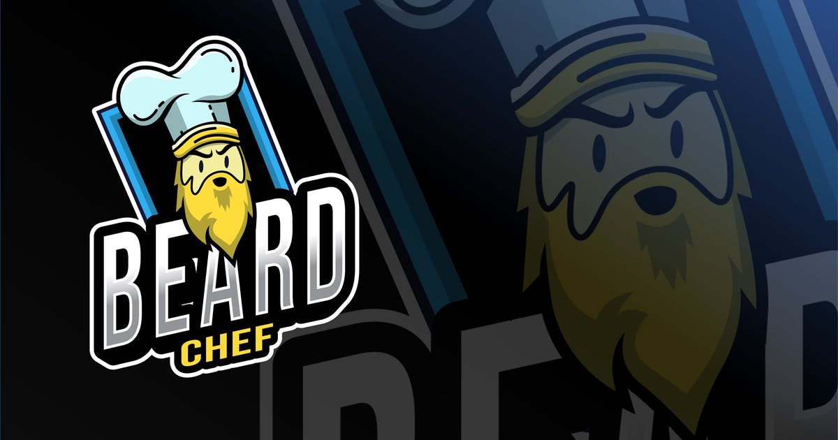 Download Beard Chef Esport Logo Template by IanMikraz