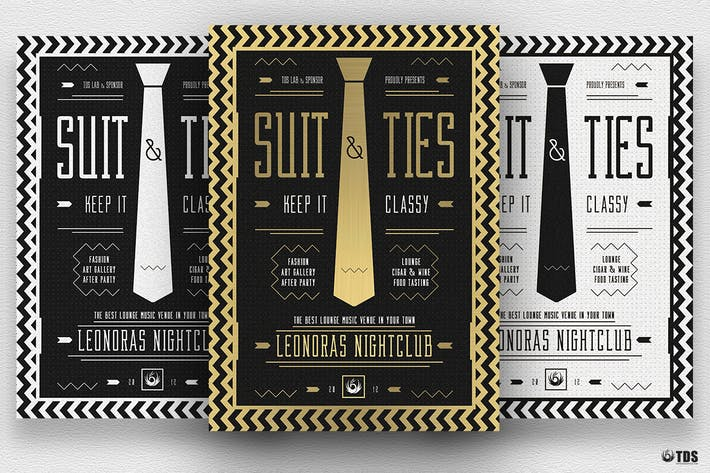 Thumbnail for Suit and Tie Flyer Template V3