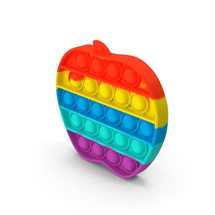 Rainbow Apple Pop It Toy