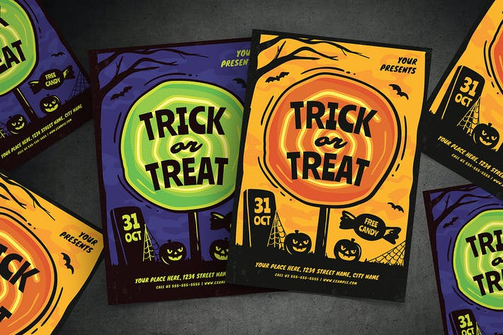 Thumbnail for Trick or Treat Halloween Flyer