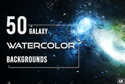 50 Aquarell-Galaxie-Hintergründe