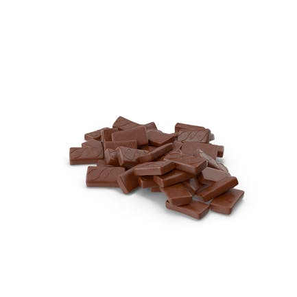 Pile of Sponge Cakes in Crisp Chocolate Cover
