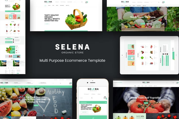 Thumbnail for Selena - Organic Responsive Magento Theme
