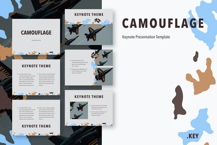 Thumbnail for Camouflage Keynote Template