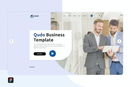 Qudo Business Hero Header Template 2