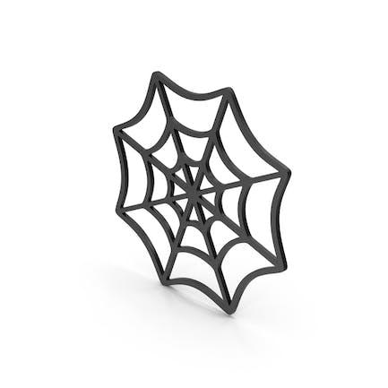 Symbol Spider Web Black