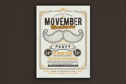 Movember Moustache Party