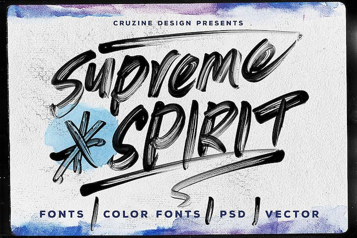 Thumbnail for Supreme Spirit Brush Font