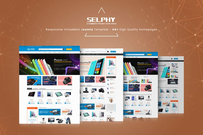 Cover Image For Selphy - Responsive VirtueMart Joomla Modèle