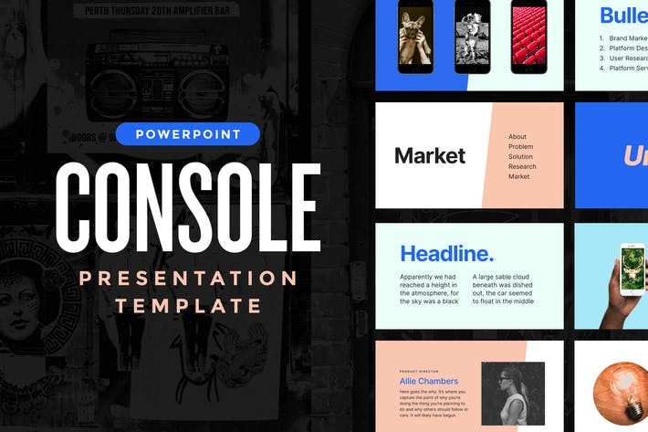 Cover Image For Console — Powerpoint Presentation Template