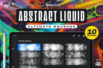 Procreate Abstract Liquid Brushes
