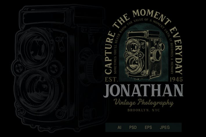 Thumbnail for Vintage Camera Badge Logo Volume 1 No.1