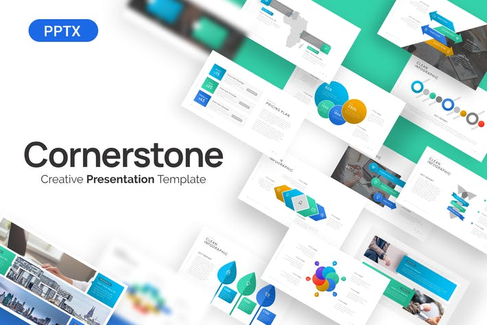 Thumbnail for Cornerstone Creative Powerpoint Template