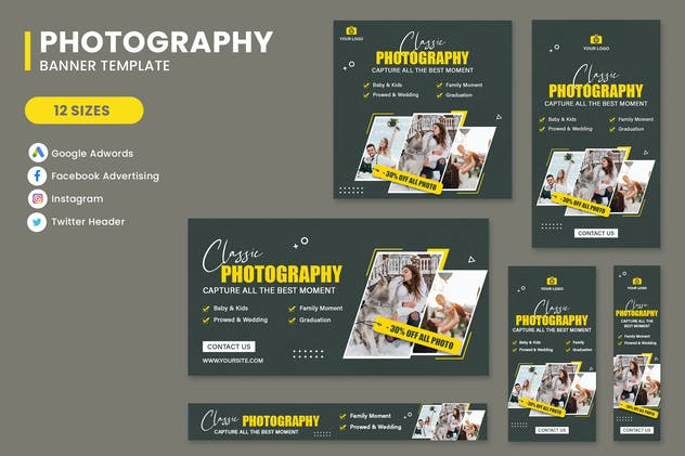 Capture Photography Home Banner Set Template