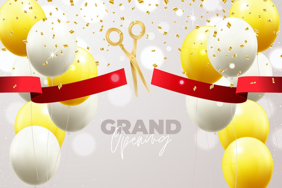 Grand Opening Balloon Background