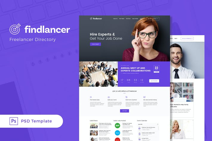 Thumbnail for Findlancer - Freelancer Directory PSD Template