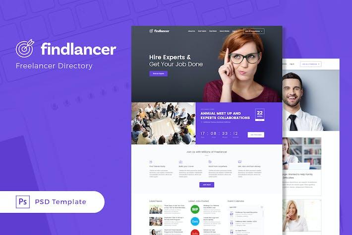 Thumbnail for Findlancer - Plantilla PSD del Directorio de Freelancer