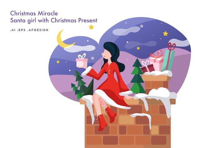 Thumbnail for Christmas Miracle - Santa girl with Christmas