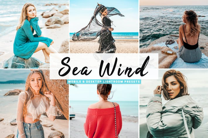 Thumbnail for Sea Wind Mobile & Desktop Lightroom Presets