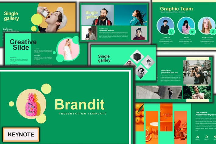 Thumbnail for Brandit Classy Modern Keynote Template