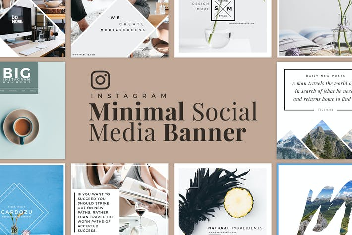 Thumbnail for Minimal Instagram Banner Pack