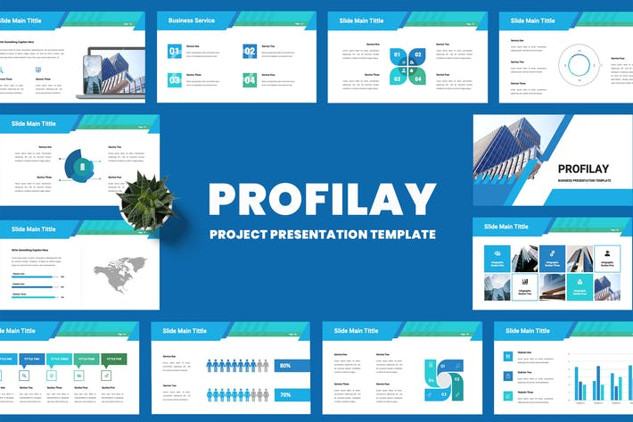 Thumbnail for Profilay - Business Keynote Presentation