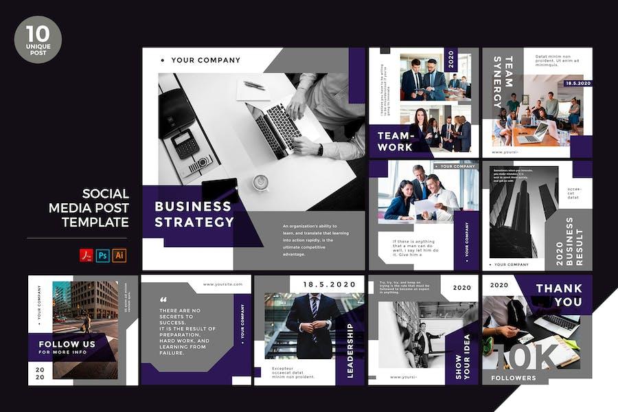 Business Strategy Social Media Kit PSD & AI