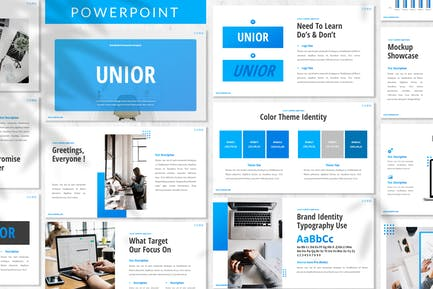 Unior - Brand Identity Powerpoint Template