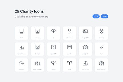 Charity icons — Line