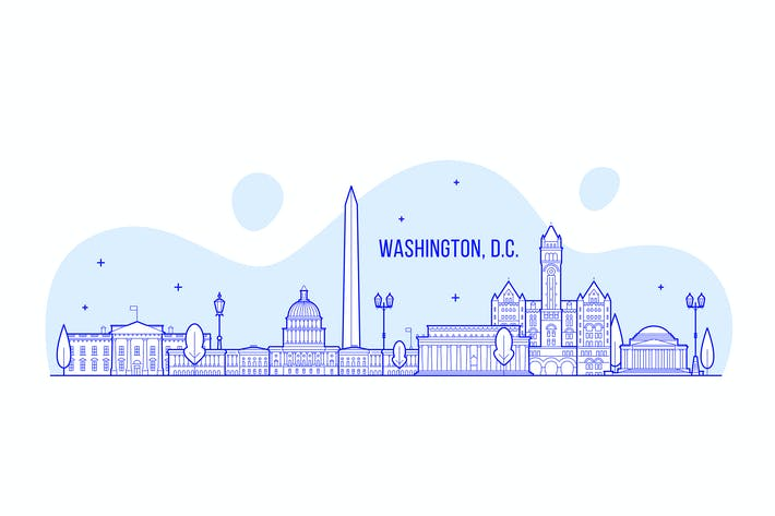 Thumbnail for Washington DC skyline, USA