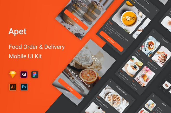 Thumbnail for Apet - Food Order & Delivery UI Kit
